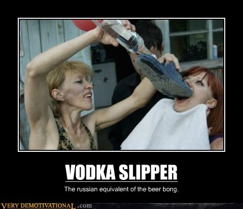 beer bong russia slipper vodka - 6531365376