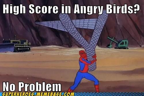 angry birds slingshot Spider-Man - 6531396352