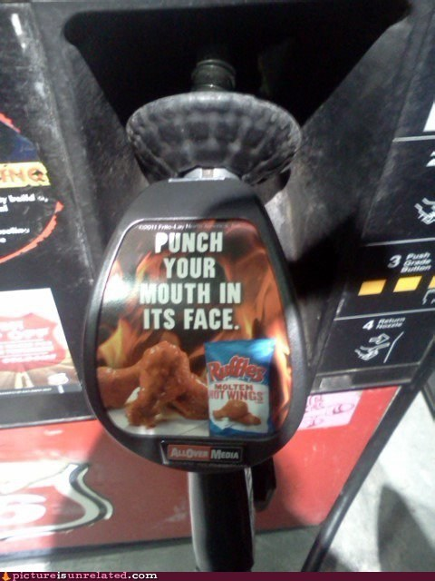 Ad,chips,gas pump,ruffles