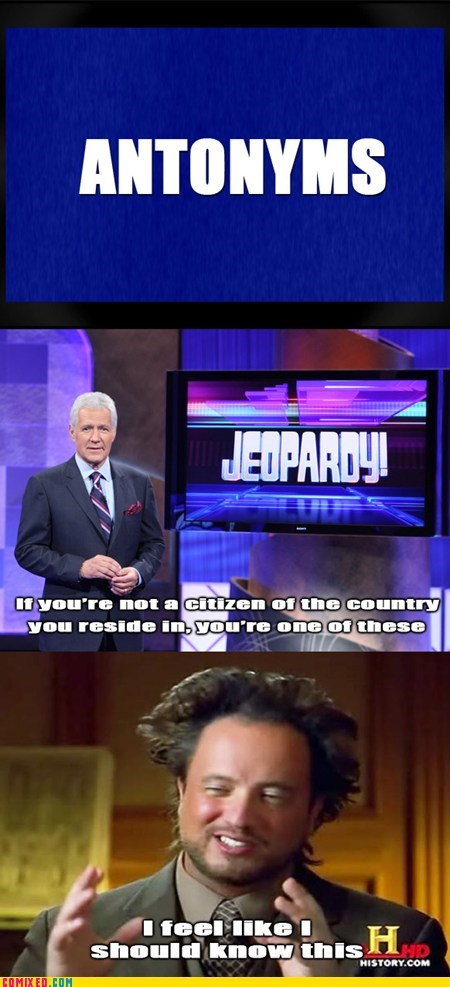 Alex Trebek Aliens citizen history channel Jeopardy TV
