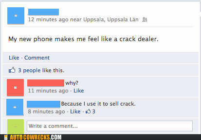 answers that question,crack,crack dealer,drugs,new phone