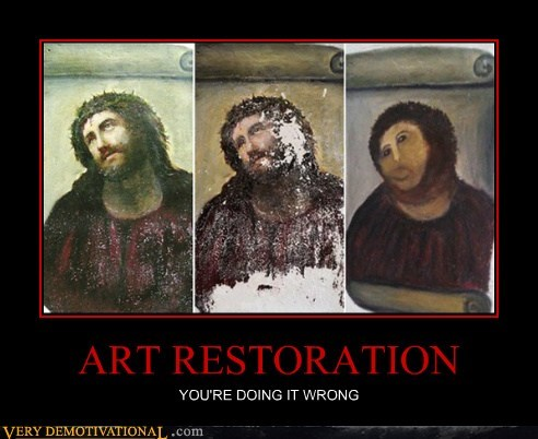 art jesus re paint restoration