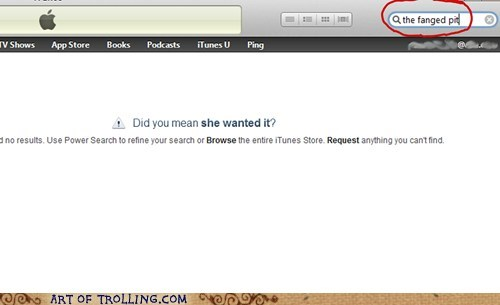 iTunes,she wanted it,suggestions,that sounds terrible