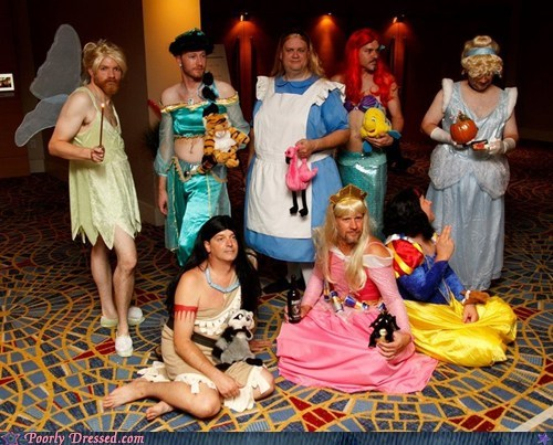 disney princesses,drag queens,men