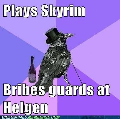 bribe crow gentleman Skyrim - 6531983872