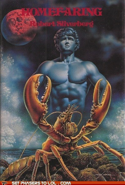 book covers,books,cover art,lobster,science fiction,shirtless men,wtf