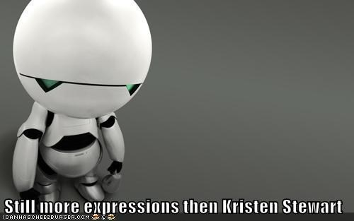 android,hitchhikers,hitchhiker's,kristen stewart,marvin,robot,still more expressions