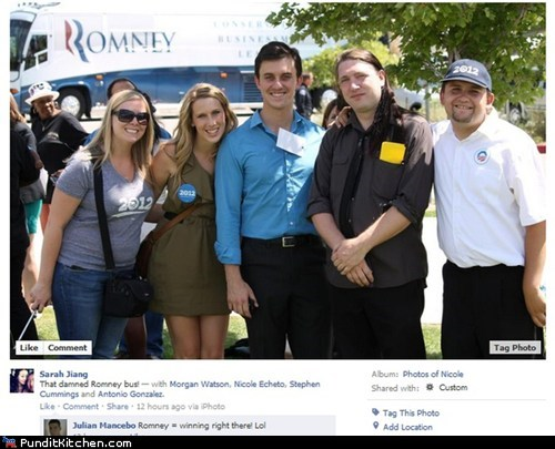 bus Mitt Romney obama photobomb well played - 6532145664