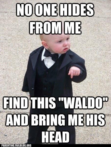 godbaby tuxedo wheres waldo