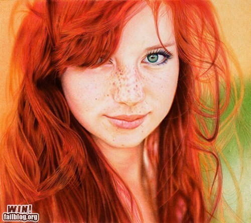 art best of week Hall of Fame pen photorealism portrait pretty colors what - 6532262144