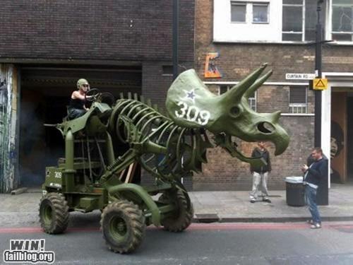 dinosaur DIY tractor vehicle weird - 6532289536
