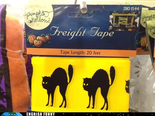 frightened,halloween,holiday,spelling,tape