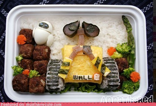 bento epicute goodbye lunch wall.e