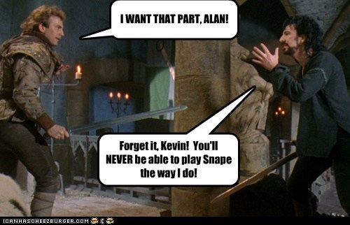 90s,actor,Alan Rickman,celeb,funny,Harry Potter,kevin costner,robin hood