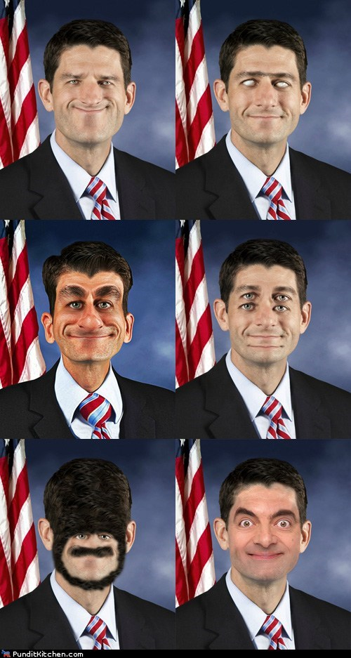 face mr-bean paul ryan photoshop portrait scary - 6532535808