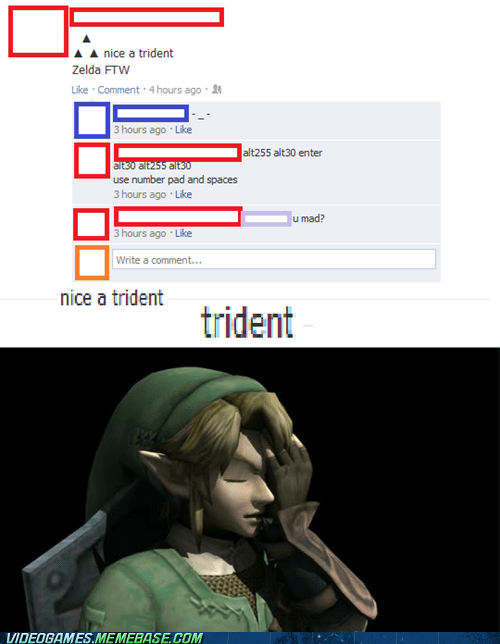 facebook legend of zelda link triforce wrong - 6532599552