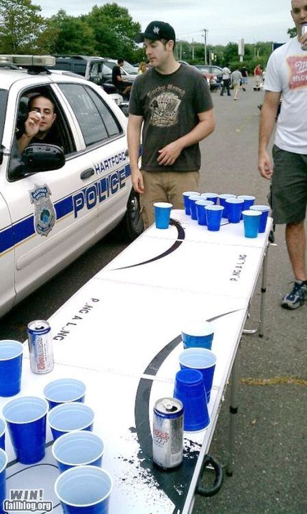 after 12 beer beer pong cop