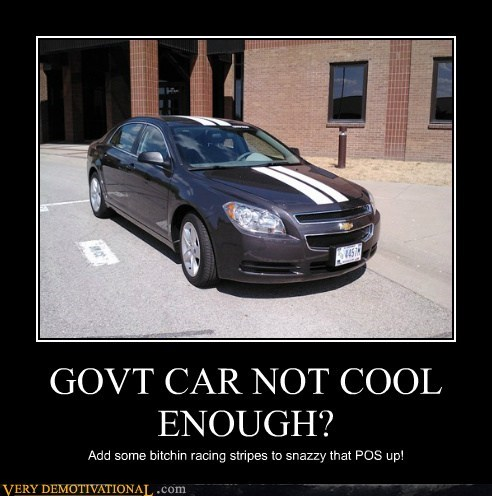 GOVT CAR NOT COOL ENOUGH? Add some bitchin racing stripes to snazzy that POS up!