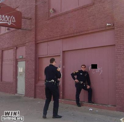 cops,graffiti,photo op,police