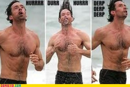 beach classic hugh jackman swimming