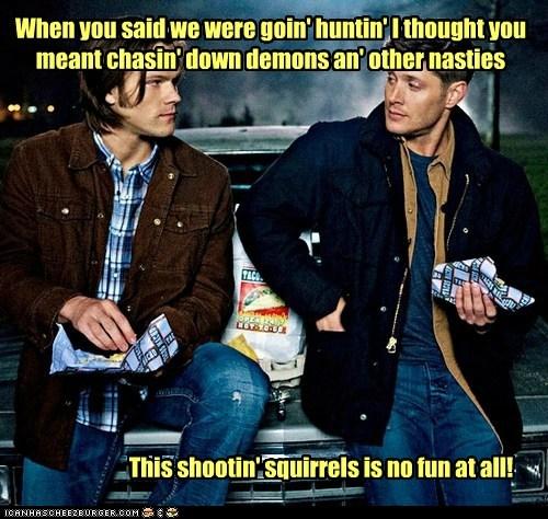 dean winchester demons hunting Jared Padalecki jensen ackles sam winchester squirrels Supernatural - 6533230848