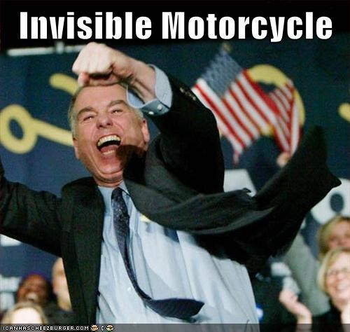 Howard Dean invisible motorcycle yelling