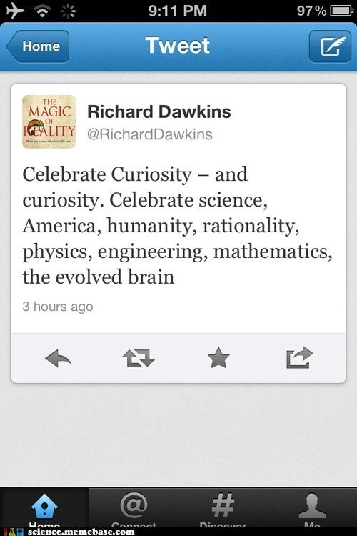 america,curiosity,richard dawkins,science