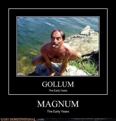 gollum,magnum-p-i,mustache