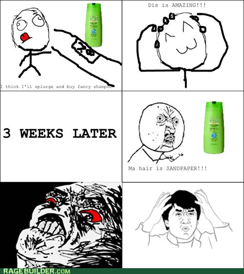 Every time I switch shampoos..
