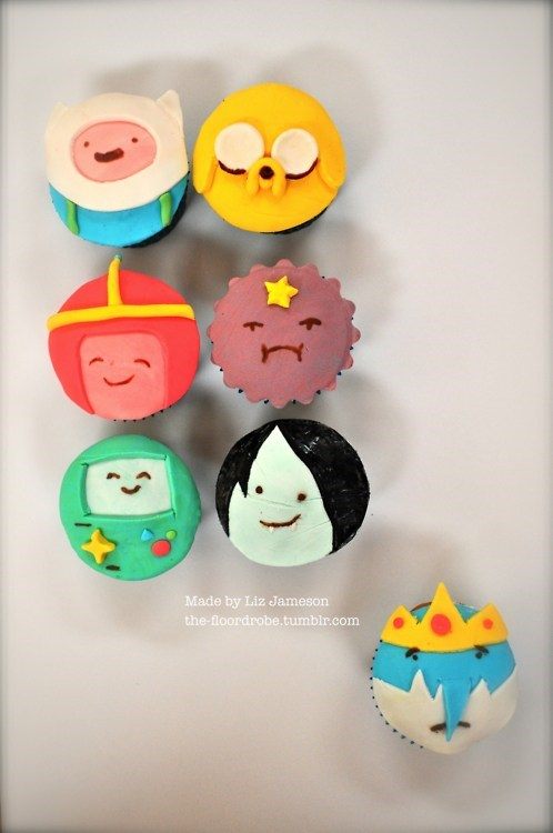 adventure time cartoons cupcakes noms - 6534140672