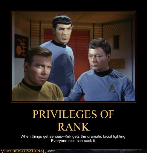 Captain Kirk,lighting,rank,Spock,Star Trek