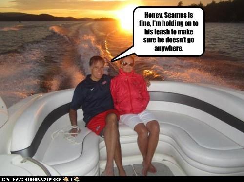 Ann Romney boat dogs fine leash Mitt Romney seamus - 6534288384