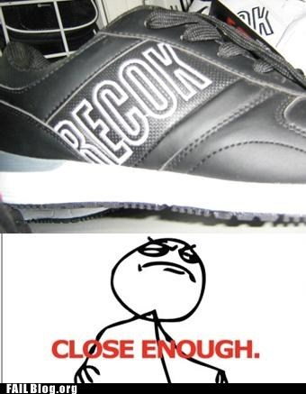 Close Enough knockoff rebok shoes