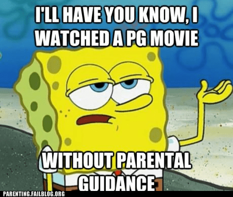 parental guidance,PG movie,SpongeBob SquarePants