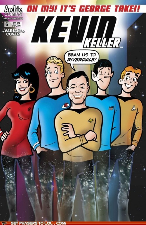 Archie Comics,comic books,cosplay,george takei,jughead,Spock,Star Trek,sulu