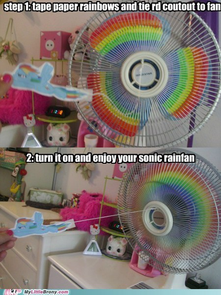 fan,IRL,rainbow,sonic rainboom