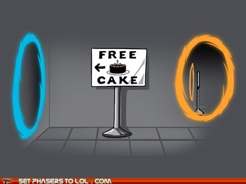 free cake,perpetual,Portal,the cake is a lie