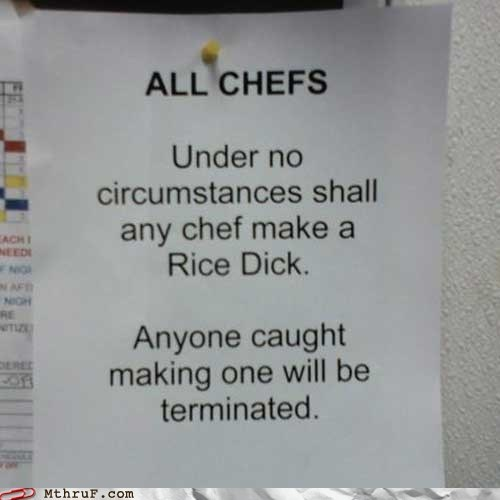 chef fired rice sushi terminated