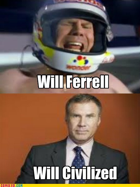 celeb civilized feral pun Will Ferrell