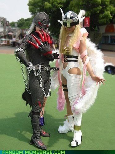 Angewomon cosplay digimon ladydevimon - 6534952448