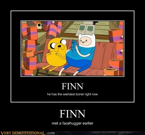 adventure time,face hugger,finn,wtf