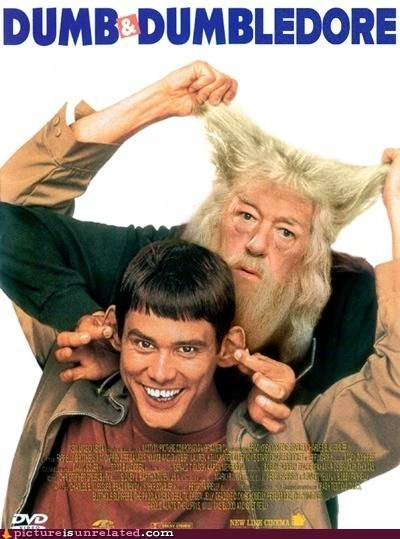 Dumb and Dumber dumbledore Harry Potter Movie wtf