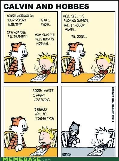 Bill Waterson calvin and hobbes sadness the last comic - 6535076096