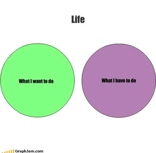 life,procrastination,venn diagram