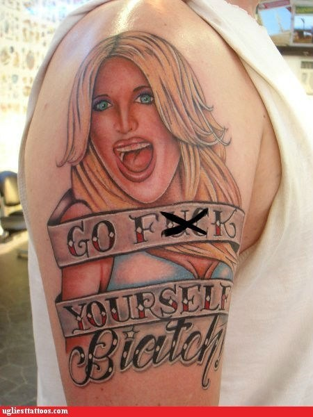 blonde shoulder tattoo - 6535133952