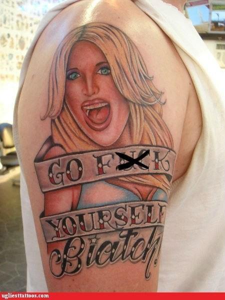 blonde shoulder tattoo - 6535133952