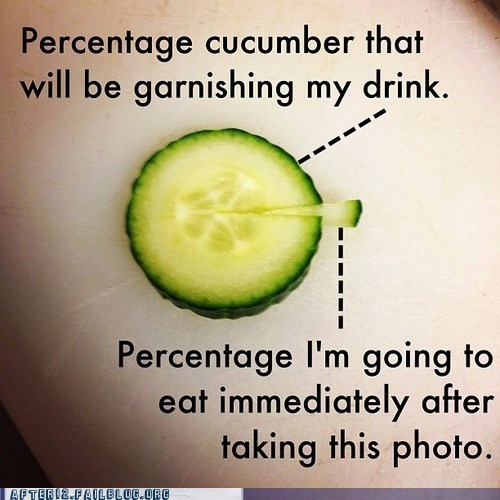 cucumber eating garnish Pie Chart vegetable - 6535187968