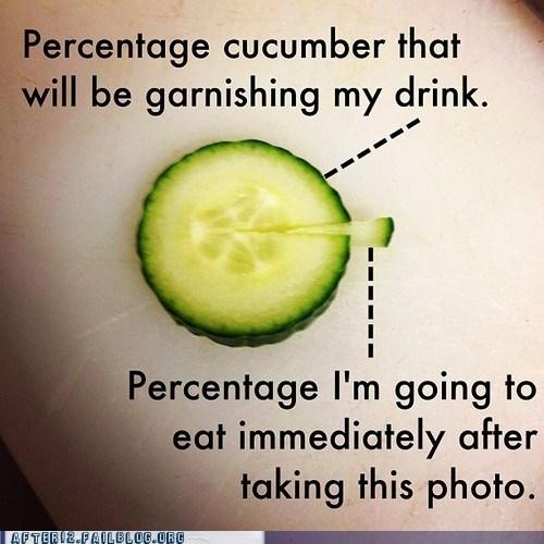 cucumber eating garnish Pie Chart vegetable - 6535187968