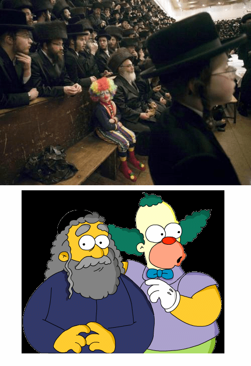 hasidic jewish krusty the clown the simpsons