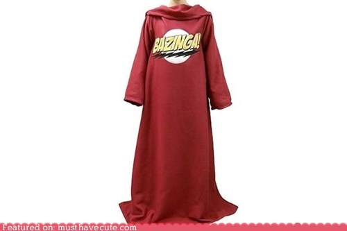 bazinga,big bang theory,catchphrase,logo,slanket,snuggie,TV